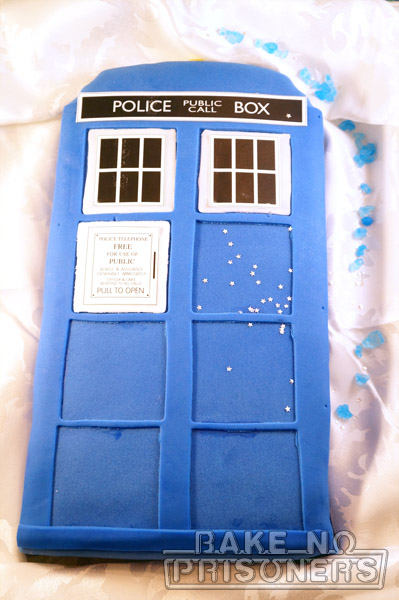 Doctor who party part i bake no prisoners for Tardis template for cake