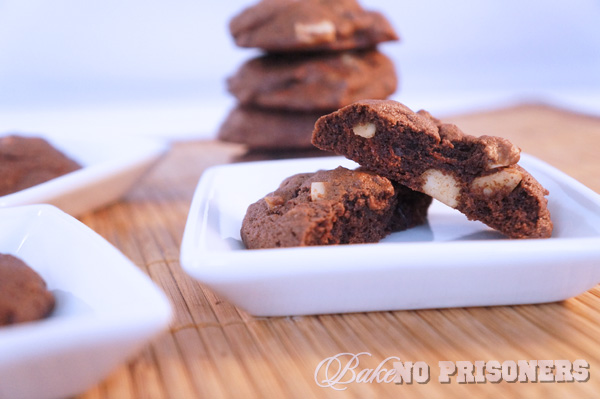 Chocolate Cherry Macadamia Nut Cookies