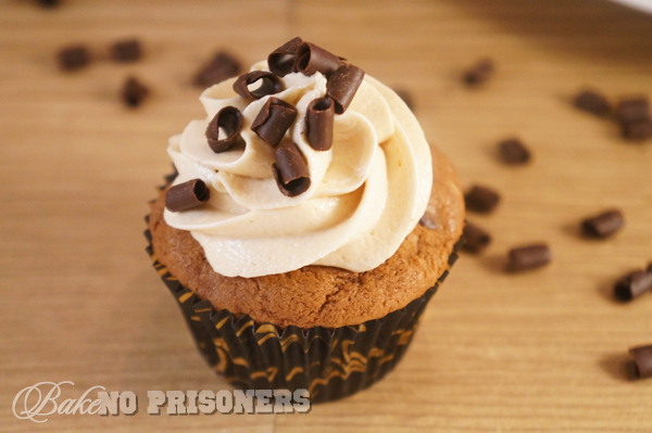 Dark Chocolate Espresso Cupcakes with Fluffy Peanut Butter Frosting
