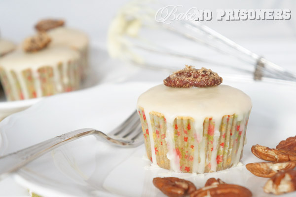 White Chocolate Pecan Cupcakes