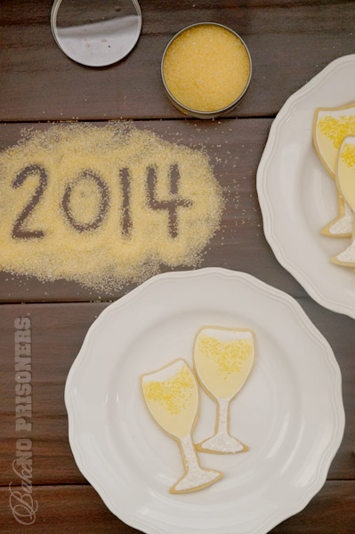 Champagne Frosted New Years Cookies