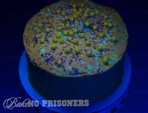 Glow in the Dark Chocolate Cake