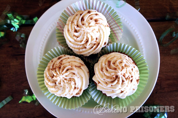Spiced Carrot Baby Cakes with Amaretto Cream Cheese Frosting